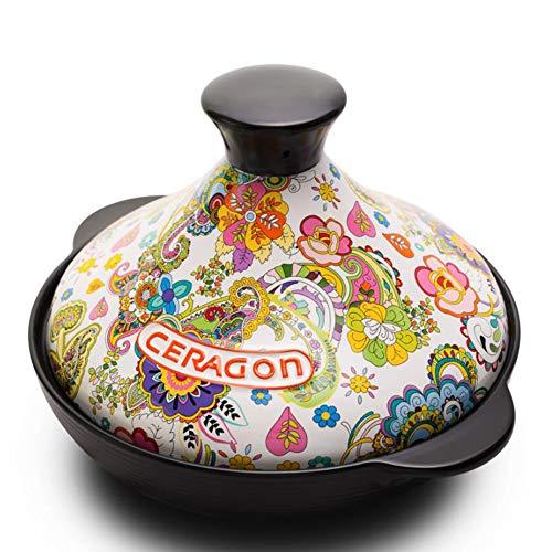 Ceramic Tagine, Multi-function Casserole, Hand-painted Clay Micro-pressure Cooker, 2L