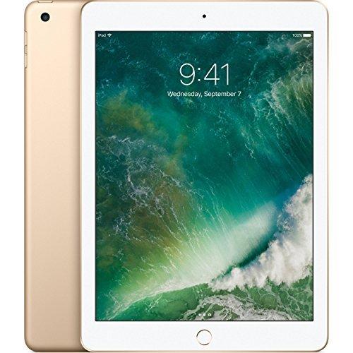 Apple iPad with WiFi, 32GB, Gold (2017 Model) (Renewed)