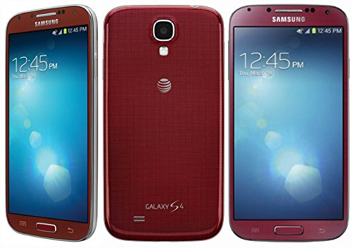 Samsung Galaxy S4 SGH-i337 4G Cell Phone, 16GB, Red, (Best At&t Cell Phones Touch Screens)