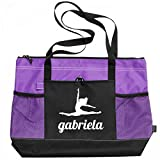 Ballet Dance Girl Gabriela: Gemline Select Zippered Tote Bag