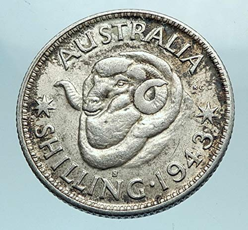- 1943 AU 1943 AUSTRALIA King George VI of United Kingdom A coin Good Uncertified