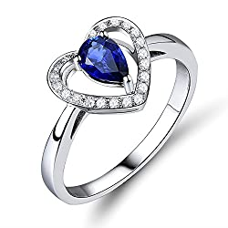 White Gold With Blue Tanzanite Ring