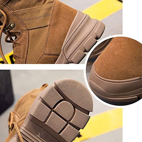 Tactique Jungle Combat les Patrouille Hommes Plus Petites Botte Chaussures Sont Femmes Armée Respirable Bottes Recrues Militaire Désert Cadet Gtagain Randonnée fourrure Moto Sécurité Brown Travail 0Ewaq5AH