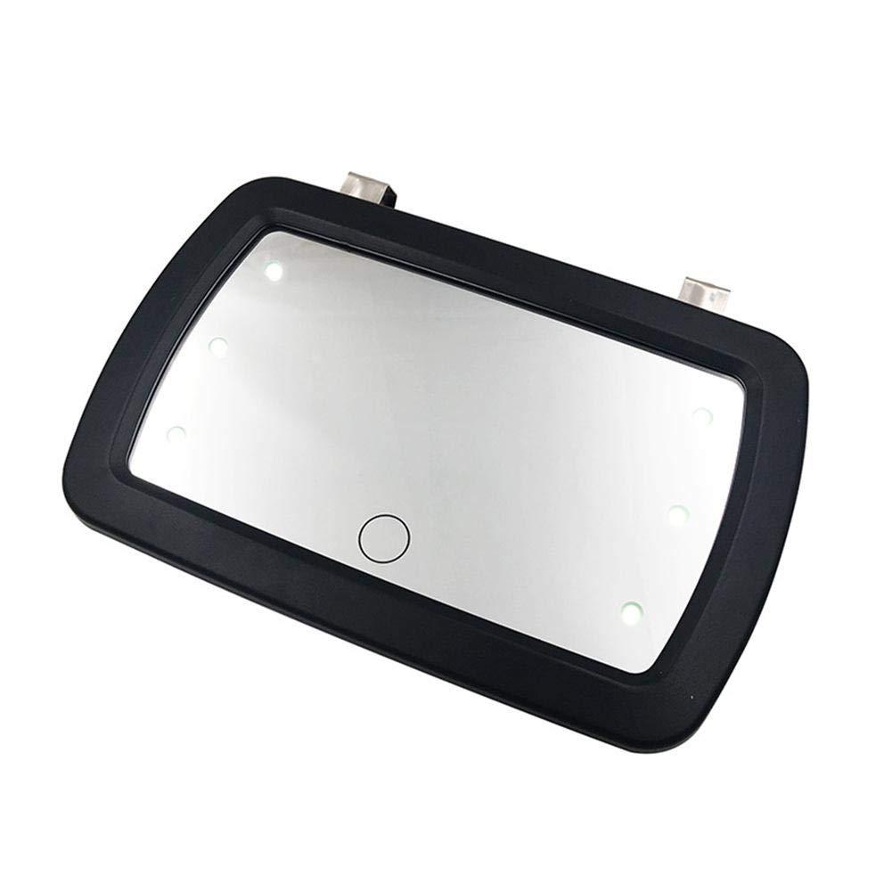 Tomation Auto Sonnenblende Spiegel /ür Make-up Auto Schminkspiegel Sonnenblende Spiegel Clip auf Make-up Sonnenschutz Kosmetikspiegel Finger-Touch-Schalter Spiegel