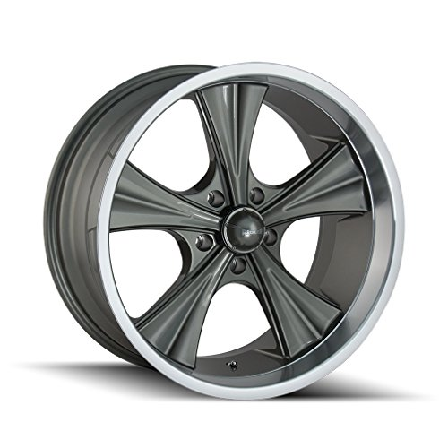 Ridler 651 Grey/Machined Lip Wheel Finish (18 x 8. inches /5 x 120 mm, 0 mm - Wheels Machined Lip