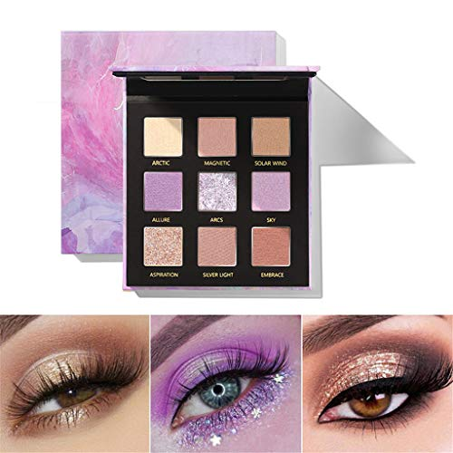 D-XinXin 2019 NEW Best Pro Pudaier Eyeshadow Palette Makeup - 9 Shades Colors MC- Highly Pigmented - Professional Nudes Warm Natural Bronze Neutral Smoky Cosmetic Eye Shadows (A) (Best Eyeshadow Palette 2019)