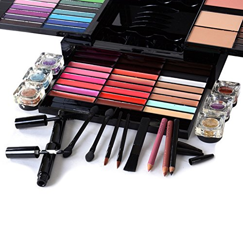 Cosmetics All In One Makeup Kit (Eyeshadow Palette, Blushes, Powder, Lipstick & More) Holiday Exclusive- Ultimate 85 Colors 3 Layer Makeup Set- Luismia Ultimate (Ultimate Powder Blush)