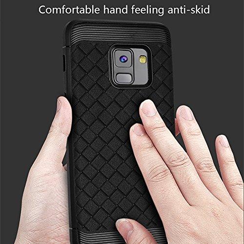 Durable patrón de TPU suave caso trasero para Samsung Galaxy A8 + (2018) ( Color : Gray ) Black