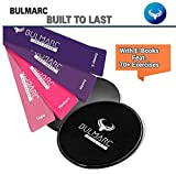 BULMARC'S Resistance Bands with Sliding Discs Sliders and Carry...