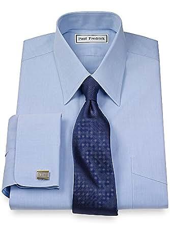 Paul fredrick men 39 s non iron 2 ply cotton straight collar for 2 ply cotton dress shirt