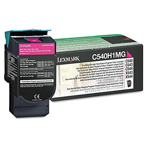 Lexmark C540, C543, C544, C546, X543, X544, X546 Series High Yield Magenta Return Program Toner Cartridge (2,000 Yield), Part Number C540H1MG