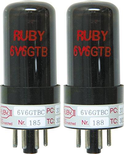 (Ruby 6V6 Matched Amp Tubes Duet )