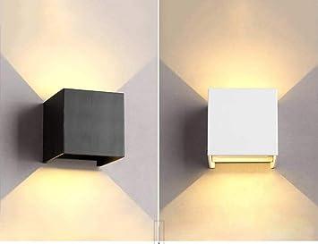 AK Lámpara de pared LED Lámpara de mesilla de noche Lámpara de pared de escalera de pasillo,Negro: Amazon.es: Bricolaje y herramientas