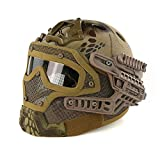 quest paintball - Warrior Quest Ultimate Airsoft Paintball Helmet - Tactical Fast Helmet Integrated with Removable Face Mask and Goggles