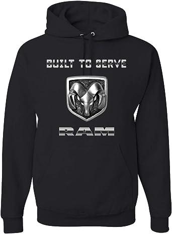 Men/'s Dodge Ram Logo Black Sleeveless Zipper Hoodie Offroad Trucks Classic Cars