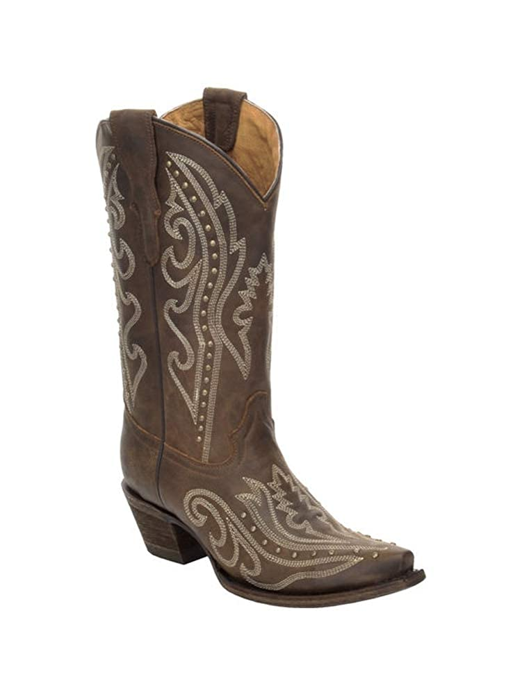 Circle G by Corral Kids Brown Embroidery Western Boot E1157 Youth 3