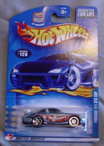 Hot Wheels 2003 Porsche 911 GT3 Cup BLUE #128 1:64 Scale (Gt3 Cup Porsche)