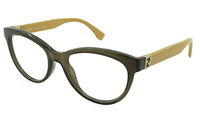 5e55a0d1bb Amazon.com  Fendi Prescription Eyeglasses - 0008 7QQ - Transparent ...