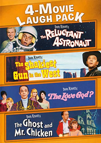 4-Movie Laugh Pack (The Reluctant Astronaut / The Shakiest Gun in the West / The Love God? / The Ghost and Mr. Chicken)