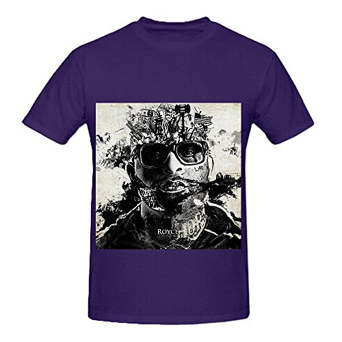 Royce Da 59 Layers Men Crew Neck Cute T Shirts Purple