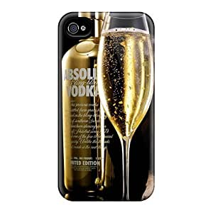 Tpu Case Cover Compatible For Iphone 4/4s/ Hot Case/ Vodka