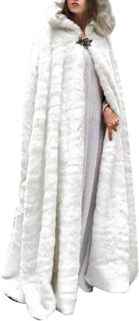 GAGA Women Split Front Hooded Cape Poncho Cape Soft Woolen Coats