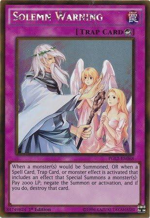 Solemn Warning SR05-EN037 Common Yu-Gi-Oh Card English 1st Edition New