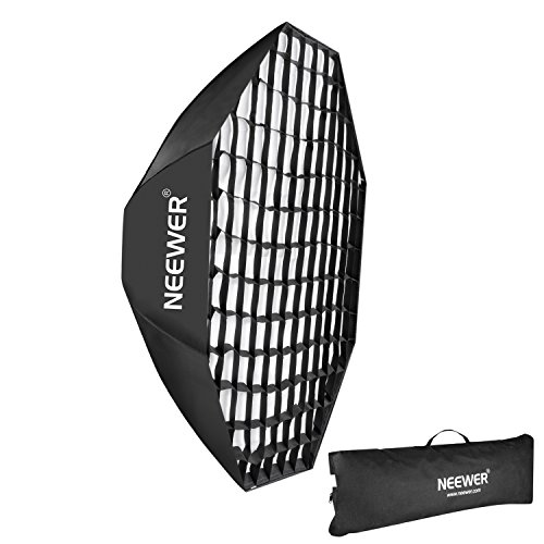 Neewer 47''/120cm Beehive Octagon Umbrella Speedlite Softbox for Nikon, Canon, Sony, Pentax, Olympus, Panasonic Lumix Flash Light, with Bowens Mount Speedring by Neewer