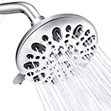 Samodra Shower Head Rainfall High Pressure Fixed Wall Mount Shower Head 6 Function Powerful Spray Settings with Adjustable Swivel Joint for Bathroom,Chrome