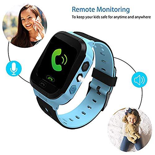 b8c6257978c Kids Smart Watch GPS Tracker - Boys Girls Digital Watch Phone Wristband 2  Way Calling SOS Wechat ...