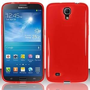 Red Flex Cover Case for Samsung Galaxy Mega 6.3 I9200 I9205 K61G