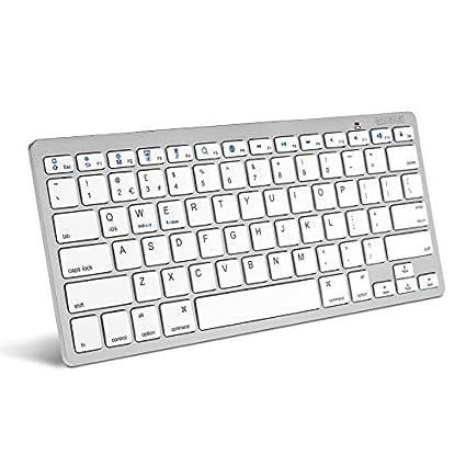 Caseflex Ultra Slim Wireless Bluetooth Keyboard For All iOS, iPad, Android, Mac,