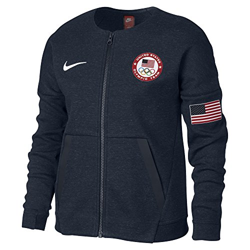 (Nike Nike Girl's Tech Fleece Team USA Big Kids' Jacket 826871 473 )