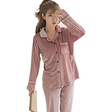 83acaff36 XFentech Mujer Terciopelo Pijamas Conjunto - Women Manga Larga Lactancia  Tops Pantalones Maternidad Ropa