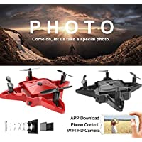 Mini Drone,Foldabe Selfie 2.4G 4CH Altitude Hold HD Camera WIFI FPV RC Quadcopter