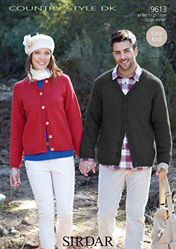 da6424a19 Sirdar Country Style DK Men s   Women s Cardigans Knitting Pattern 9613   Amazon.co.uk  Kitchen   Home