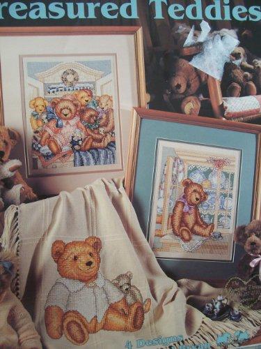 Treasured Teddies cross stitch: 4 designs