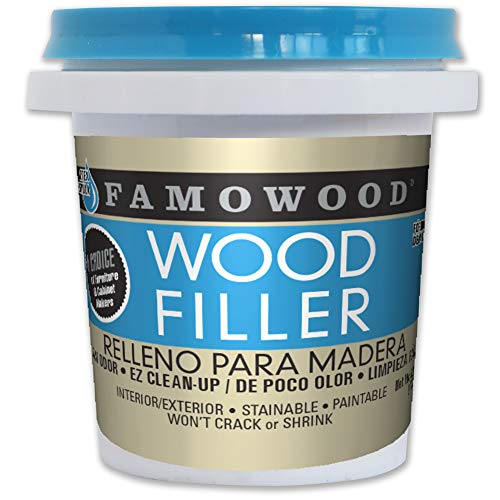 FamoWood 40042118 Latex Wood Filler - 1/4 Pint, Fir/Maple (Maple Wood Putty)