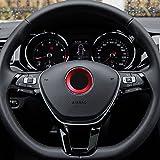 etopmia Aluminium Trim Car Steering Wheel Logo Sticker fit VW Volkswagen Golf 6 Golf 7 Polo Tiguan Passat B7 Touran Scirocco Beetle