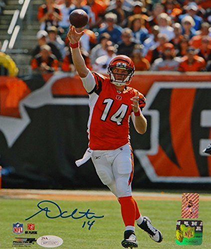 Signed Andy Dalton Photo - 8x10 Passing PF W Auth - JSA Certified - Autographed NFL Photos
