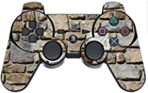 Stones Rock Wall Background Pattern PS3 Dual Shock wireless controller Vinyl Decal Sticker Skin by Moonlight Printing