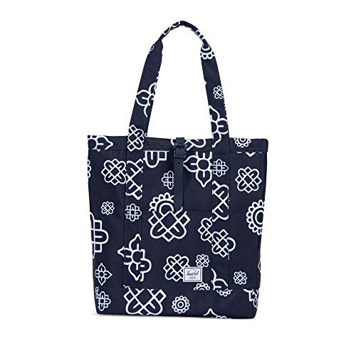 Herschel Supply Co. Market Tote, Peacoat Paisley Print/Peacoat Rubber