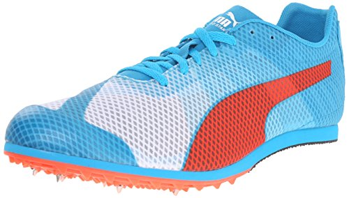 PUMA Men's Evospeed Star v4-m, White/Atomic Blue/Red Blast, 10.5 D US