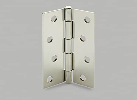 Pair of 3 x 4u0026quot; Inch BUTT DOOR HINGES 100mm HEAVY DUTY STEEL Butts 250 & Pair of 3 x 4