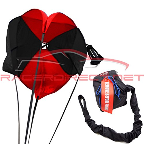 (Racerdirect.net 10 Ft 4 Line-15 Ft Lines Spring Racing Parachute W/Nylon Bag & Pilot)