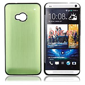 Matel Wire Drawing Case for HTC One M7 Green
