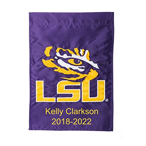 Ashley Gifts Customizable Embroidered Applique Garden Flag, Double sided, LSU