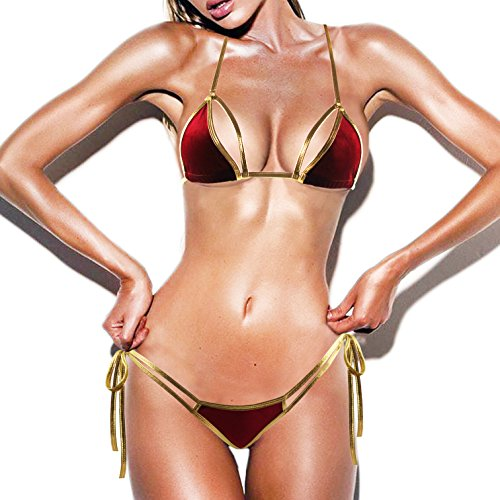 SS Queen SSQUEEN Newest EURO-Style Mini Micro Bra and G-String Set Sexy Beach - Mini G-string