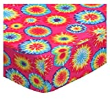 SheetWorld Fitted Pack N Play Sheet Fits Graco Square Playard 36 x 36 - Tie Dye Jersey Knit - Made In USA