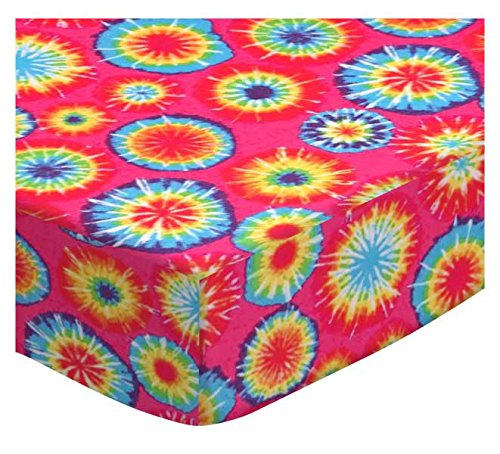 SheetWorld Fitted Pack N Play Sheet Fits Graco Square Playard 36 x 36 - Tie Dye Jersey Knit - Made In USA by sheetworld